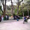 Un día en el parque en un país en