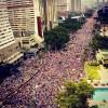 La Oposición cubre la Avenida Bolívar de costa a costa