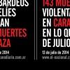 Muertos en Venezuela y en la Franza de Gaza