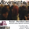 Movimiento / Recital poético / Micrófono abierto